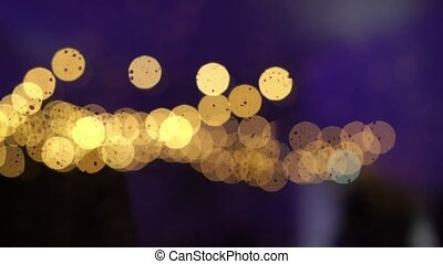 Lights and blurs abstract background