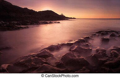 Bracelet Bay, Swansea - Sunrise at Bracelet Bay, featuring...