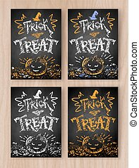 Trick or Treat Halloween postcards - Trick or Treat...