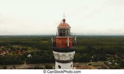 Old lighthouse on the coast. - Ancient lighthouse on the...