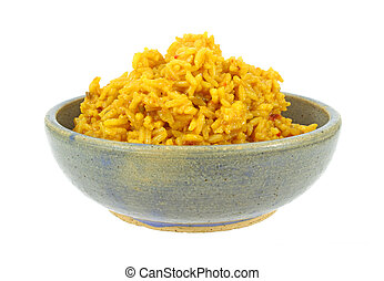 Large serving of spiced rice - A large serving of spicy rice...