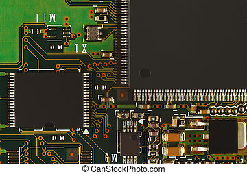 Microelectronic circuit with digital microchips board...