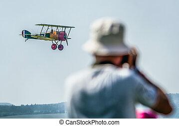 Biplane - SLIAC, SLOVAKIA -  Biplane in Sliac