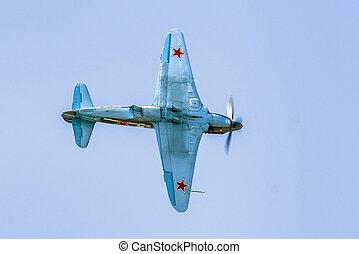 Soviet plane Yak-3 at airshow SIAF 2017