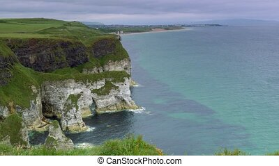 Cliffs At The Magheracross Viewpoint, Northern Ireland -...