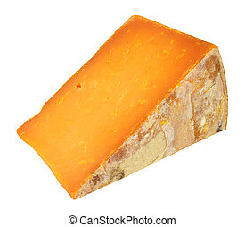 Rutland Red Cheese Wedge - Rutland red cheese wedge isolated...