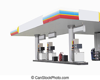 petrol pump - The image of petrol pump under the white...
