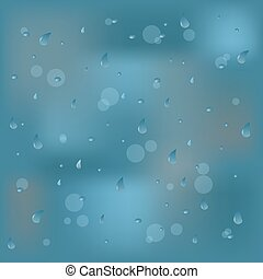 Vector Photo Realistic Image Of Raindrops Or Vapor Trough Window Glass vector illustration