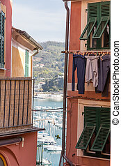 Streets of Lerici - View in the narrow streets of Lerici,...