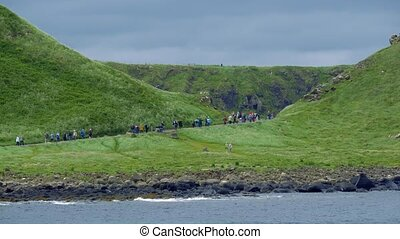 Tourist Mass On Giant Causeway, Northern Ireland - Graded...