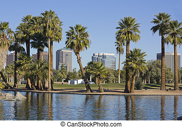 City of Phoenix Downtown, AZ - Downtown of Phoenix as seen...