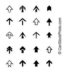 Set of black vector arrows - Set of black arrows. Icon Stock...