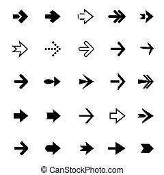Set of black vector arrows - Collection of black arrows....