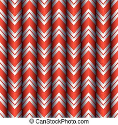 Seamless Red and Silver Chevron Curtain Pattern