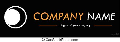 Vector logo template, logotype for a company or a brand