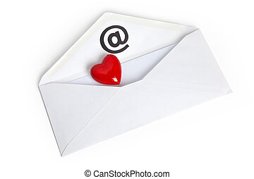 Red Heart Shape and E-Mail