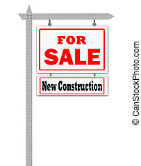 Real Estate For Sale Sign,
