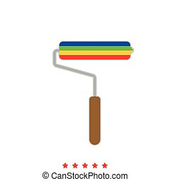 Paint roller it is icon .