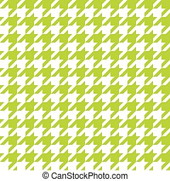 Seamless lime green houndstooth pattern