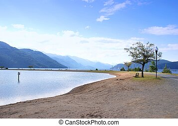 View of harrison hot springs in BC
