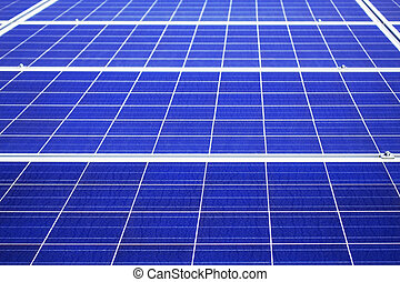 surface of solar panel.