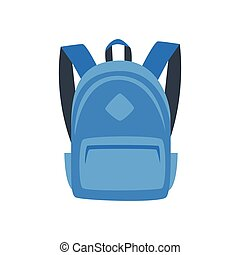 illustration of blue backpack - Vector cartoon style...
