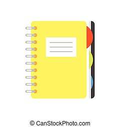 illustration of copybook. - Vector flat style illustration...