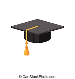 illustration of graduation cap.
