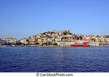 Greece, Eastmacedonia, Kavala - Greece, Kavala, ciyscape...