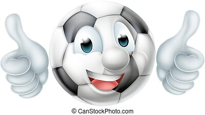 Cartoon Football Ball Character - Cartoon soccer ball man...