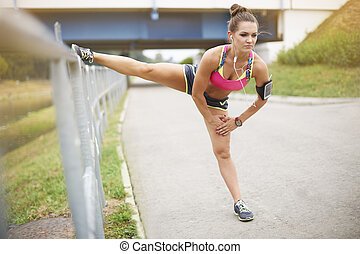 Good stretching is the basis of training