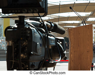 Professional Video Camera ready for Conference Broadcasting