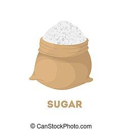bolsa, aislado, sugar.