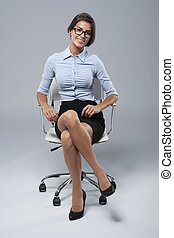 Comfortable position of a typical white collar worker