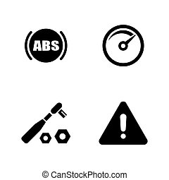 Auto service. Simple Related Vector Icons - Auto Service....