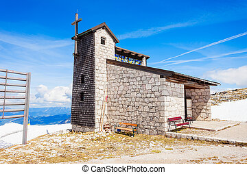 Cathedral in Dachstein Mountains - Catholic cathedral church...