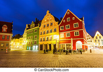 Memmingen old town, Germany - Beauty colorful houses in the...