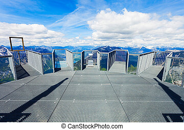Dachstein Mountains in Austria - 5 Fingers is a viewpoint...