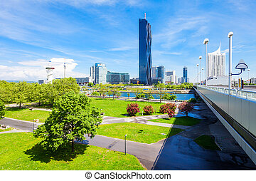 Danube modern district, Vienna - Danube City or Donaustadt...