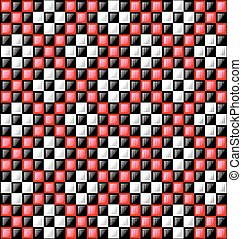 black, white and red glossy blocks - abstract colored...