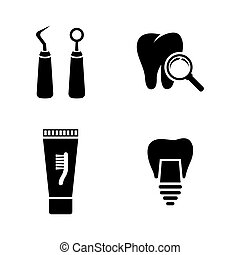 Dental. Simple Related Vector Icons