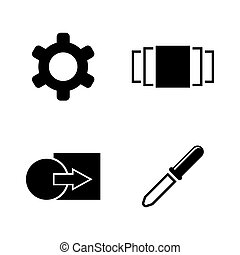 Image settings. Simple Related Vector Icons