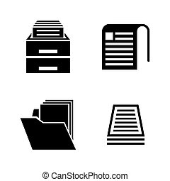 Document. Simple Related Vector Icons
