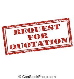 Request For Quotation - Red stamp with text Request For...