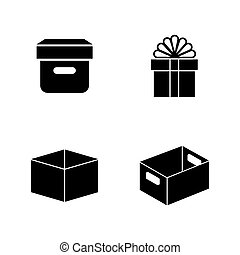 Paper craft packages. Simple Related Vector Icons