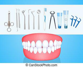 Dentist tools - illustration of Dentist tools