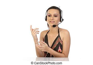 customer support operator woman - Beautiful customer support...