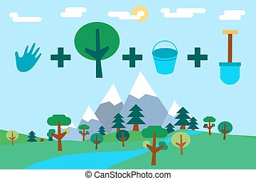 Arbor Day Greeting - Save Our Planet Infographics. Arbor,...