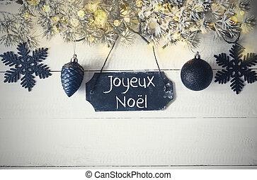 Plate, Fairy Light, Joyeux Noel Means Merry Christmas -...