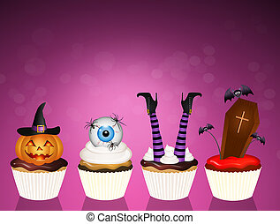 trick or treat of Halloween - illustration of trick or treat...